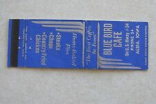 g335 Matchbook cover Vintage Blue Bird Cafe Albia Iowa IA