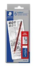 Staedtler 110 Tradition Pencil Set With Free Eraser & Sharpener 61 110 C6