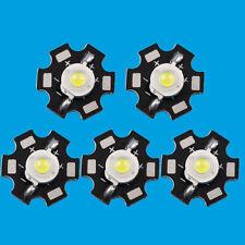 10 PCS 3W White High Power LED Diodes Light Emitter 6000-6500K with 20mm Star Ba