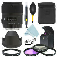 Sigma 35mm f/1.4 DG HSM Art Lens for Nikon Cameras + Filter Kit + Accessory Kit