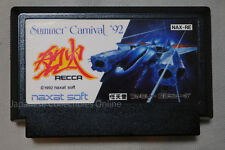 SUPER RARE !! FAMICOM NINTENDO SUMMER CARNIVAL '92 RECCA JAPAN NAXAT SHOOTER #1