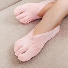 5 Pairs New Women Low Cut Crew Ankle Socks Five Finger Toe Hosiery Stockings Lot