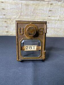 Vintage Federal Equipment U.S. Post Office Box Door Beveled Glass Circa 1908