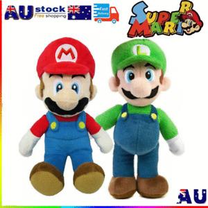 2 Pcs Super Mario Bros Plush Doll Mario Luigi Soft Stuffed Doll Toy Kids Gift