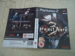 PROJECT ZERO 3.PAL PLAYSTATION 2 Replacement Box Art Sleeve/ Inlay Only.