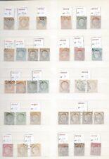 Lot 150 timbres, entre N° 13 et 1595 cote de pus 1500€, voir liste, à 10%.