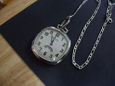 "Original 12s Waltham "" Secometer "" Colonial Series Pocket watch and Fob Chain"
