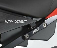 BMW S1000RR 2010-2018 R&G PAIR black footrest exhaust blanking plate brackets