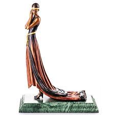 Bronzeskulptur ~ Art Deco Bronzefigur Frau mit Kleid ~ WIENER BRONZE ~ BT793