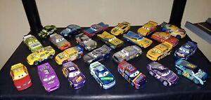 Disney pixar cars diecast lot #7 25 total vehicles new condition lose.
