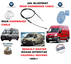 FOR NISSAN INTERSTAR RENAULT MASTER VAUXHALL MOVANO REAR BRAKE CABLE 9111490