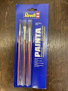 REVELL® FLAT BRUSH PACK ACRYLIC ENAMEL PAINT MODEL BRUSHES SIZE 2, 6 & 10