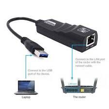 Black 1000Mbps USB 3.0 to 10/100/1000 Gigabit RJ45 Ethernet LAN Network Adapter