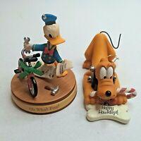 Lot of 2 Hallmark Keepsake Disney Christmas Ornaments Pluto Donald Duck Holiday
