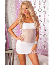 SEAMLESS DRESS FISHNET CENTER ADRENALINE  WHITE OS