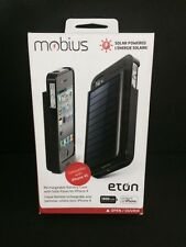 Eton NSP300B Rechargeble Battery Case with Solar Panel For Iphone 4 /4S Black