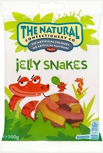 The Natural Confectionery Co. Jelly Snakes (4x160g)