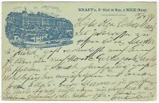 More details for france 1899 10c sage picture stationery nice hotel scene in blue