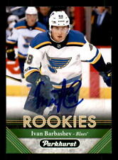 2017-18 Parkhurst #256 Ivan Barbashev Blues Rookie Auto (ref 45672)