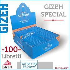 5000 Cartine GIZEH SPECIAL CORTE 1 BOX 100 LIBRETTI DA 50 - EXTRA FINE ORIGINAL