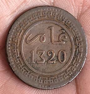MOROCCO 1902 ( 1320 ) 10 MAZUNAS VERY NICE COIN LG
