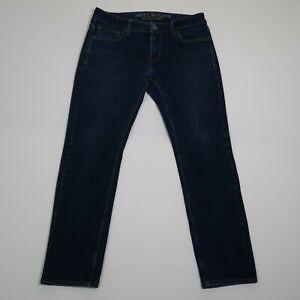 American Eagle Men's Flex/4 360 Skinny Blue Jeans Size 32x30 Measures 32x28