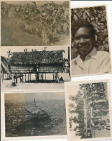 WWII 1940s USAAF airman's Papua New Guinea 5 Photos of natives
