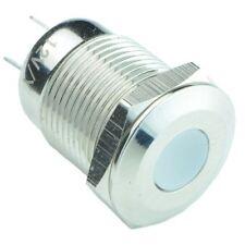 weiß Vandal Widerstansfähig 12mm Metall LED Indikator IP65