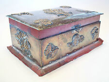 Arts & Crafts Jewelry Box with Applied Decoration - Unsigned - U K - Circa 1880