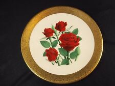 American Rose Society collector plate Black Jade by Luther Bookout gold embossed