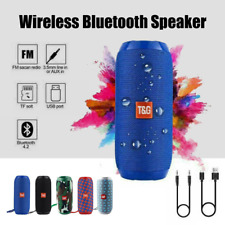 Bluetooth Wireless Speaker Outdoor HIFI Portable Rechargeable Stereo USB/TF/AUX