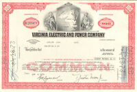 Virginia Electric and Power Company   1973 Virginia utility stock certificate