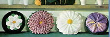 Vintage Crochet pattern-How to make 4 pretty round flower cushions-daisy,pansy