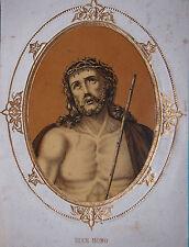 Lithographie Wentzel gde image religieuse 18cm x 24cm  St Sacrement 18ème siècle