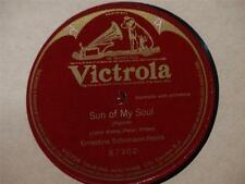 "ERNESTINE SCHUMANN-HEINK Sun Of My Soul SINGLE SIDED 10"" 78 Victrola 87302 vg+"