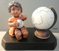 M I Hummel African Wanderer Figurine Globe On Base new in box