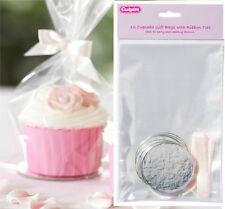 12 cupcake Buste Regalo Con Legami Nastro & boards-cake, sacchetti di partito, Nozze Favori