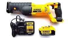 Dewalt DCS380 20V Reciprocating Saw, 1) DCB204 4.0 AH Battery,1) Charger 20 volt