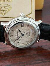 Krug Baumen Diamond Watch Automatic,Original Leather Strap, 21 Jewels