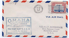US 1929 First Night Flight Omaha Nebraska Welcomes CAM 28 Event Cover
