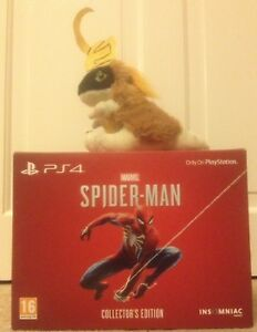 RARE SPIDERMAN COLLECTORS statue EDITION on PLAYSTATION 4 5 PS4 PS5 steelbook