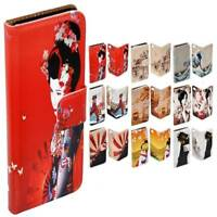For Apple iPhone Series Case Japan Theme Print Wallet  Leather Flip Phone Cover