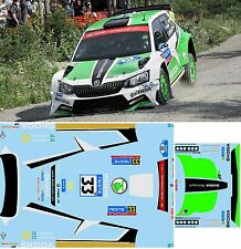 SKODA FABIA R5 TIDEMAND  RALLY  NESTE OIL  2016 DECALS  1/43