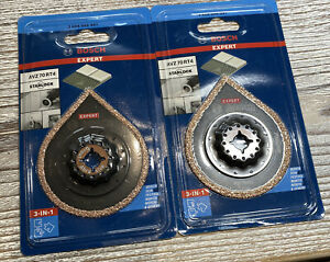 2 X Bosch Expert Grout removal blade Starlock (Dia)70mm AVZ 70 RT4 New sealed