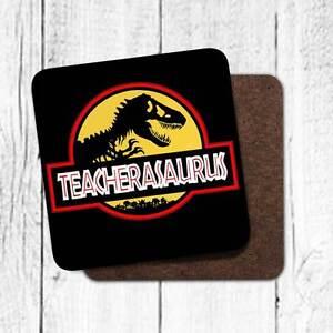 Teacher Gift Teacherasaurus Fun Dinosaur Jurassic Coaster School Gift