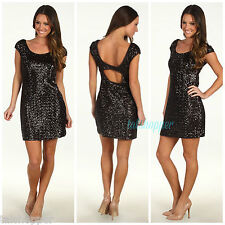 MUSE $178 Sequin Cut Out Embellished Party Holiday Sexy After 5 Dress NWT 12
