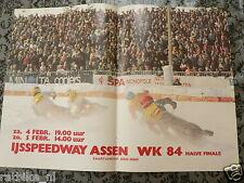 A178-IJSSPEEDWAY ASSEN WK 1984 HALVE FINALE ISE SPEEDWAY MOTO POSTER 4-5 FEBRUAR