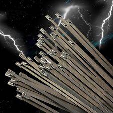 100x Strong Stainless Steel Metal Cable Ties Tie Zip Wrap Exhaust 4.6 x 150 mm