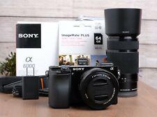 Sony A6000 24.3MP Mirrorless Digital Camera w/Sony 16-50mm PZ & 55-210mm Lenses