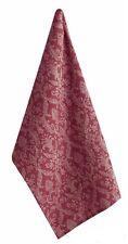 Florentina Jacquard Red & Ecru Cotton Kitchen Towel or Dish Towel Split P